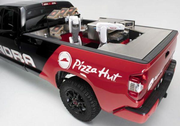 robot restaurant, ai restaurant, pizza hut robot